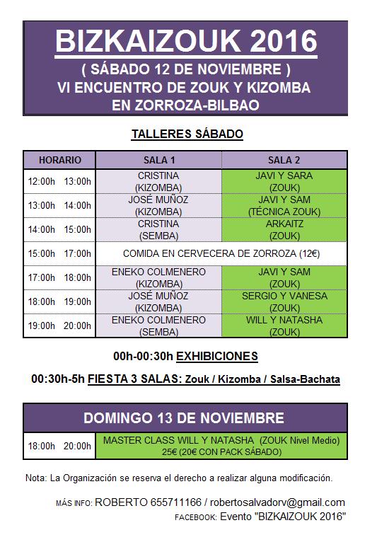 Programa Bizkaizouk 2017
