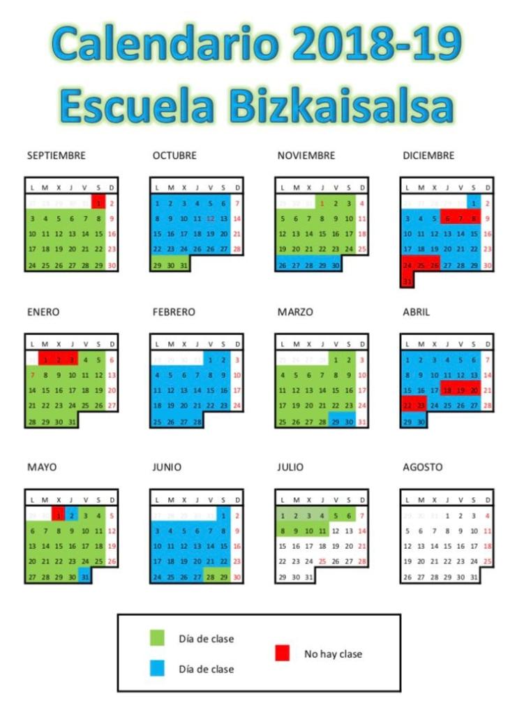 calendario bizkaisalsa 2019